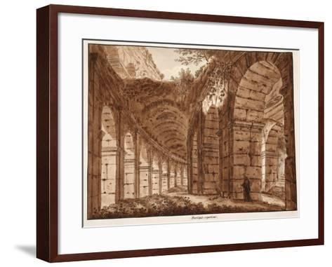 The Top Storey of the Colosseum, 1833-Agostino Tofanelli-Framed Art Print