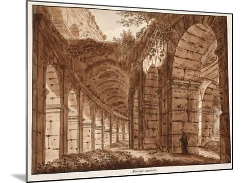 The Top Storey of the Colosseum, 1833-Agostino Tofanelli-Mounted Giclee Print