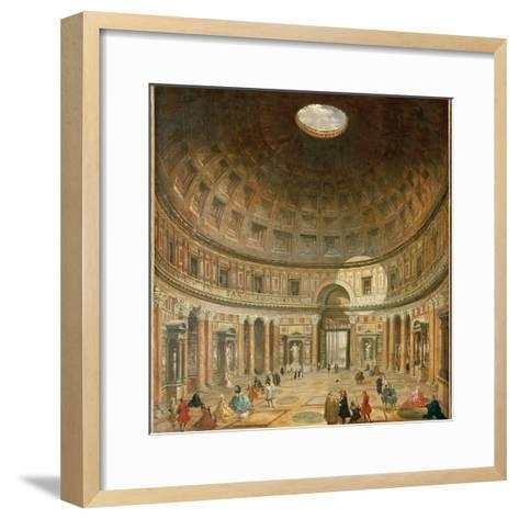 The Interior of the Pantheon, Rome-Giovanni Paolo Pannini-Framed Art Print