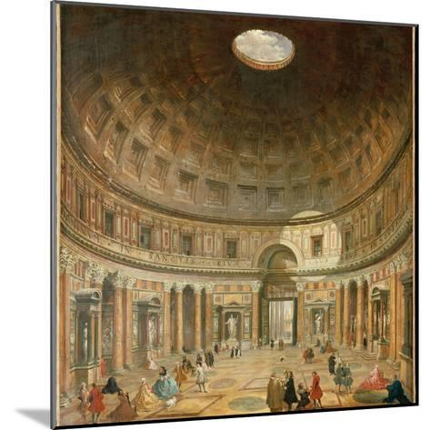 The Interior of the Pantheon, Rome-Giovanni Paolo Pannini-Mounted Giclee Print