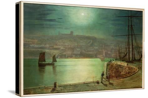 Whitby Harbour by Moonlight, 1870-Grimshaw-Stretched Canvas Print