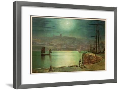 Whitby Harbour by Moonlight, 1870-Grimshaw-Framed Art Print