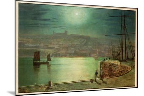 Whitby Harbour by Moonlight, 1870-Grimshaw-Mounted Giclee Print
