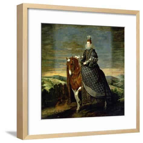 Portrait of Queen Margaret of Austria-Diego Velazquez-Framed Art Print