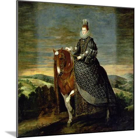 Portrait of Queen Margaret of Austria-Diego Velazquez-Mounted Giclee Print