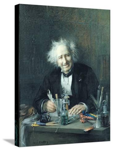 Portrait of Michel-Eugene Chevreul-Leon Auguste Tourny-Stretched Canvas Print