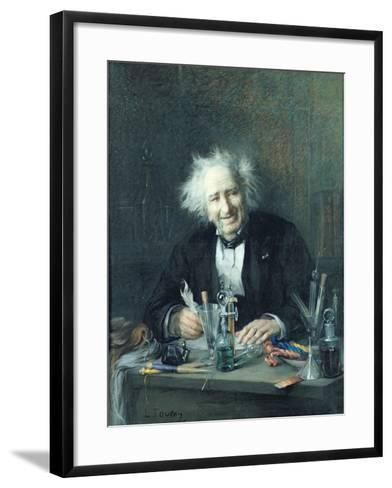 Portrait of Michel-Eugene Chevreul-Leon Auguste Tourny-Framed Art Print