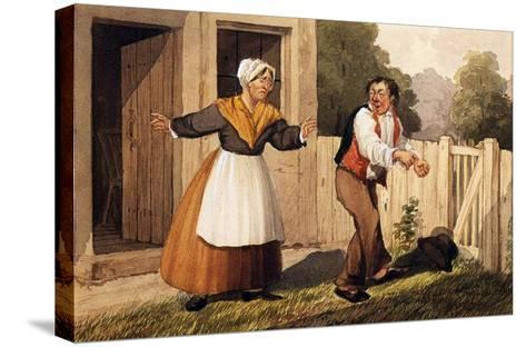 The Drunken Husband, C.1818-David Claypoole Johnston-Stretched Canvas Print