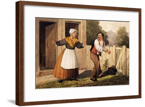 The Drunken Husband, C.1818-David Claypoole Johnston-Framed Art Print