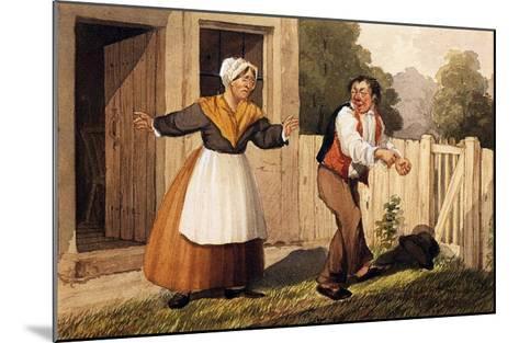 The Drunken Husband, C.1818-David Claypoole Johnston-Mounted Giclee Print