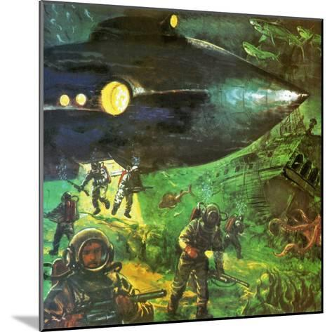20,000 Leagues under the Sea-English School-Mounted Giclee Print