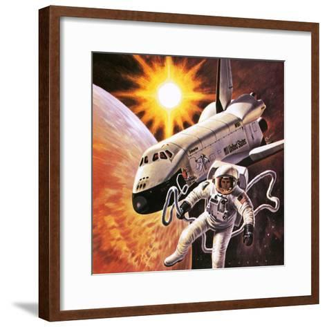 Space Suit, as Imagined in 1977-English School-Framed Art Print