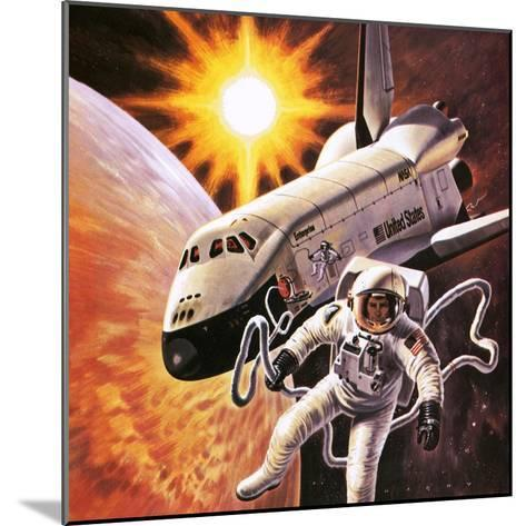 Space Suit, as Imagined in 1977-English School-Mounted Giclee Print