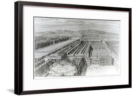 The Prospect of Grays Inn, 1720-English School-Framed Art Print