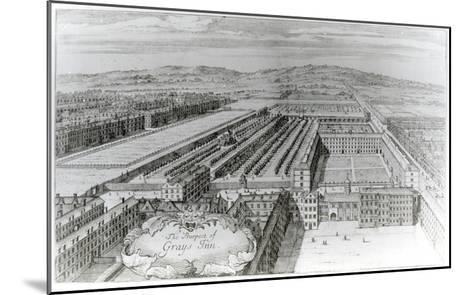 The Prospect of Grays Inn, 1720-English School-Mounted Giclee Print