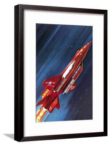 Unidentified NASA Rocket Plane-Wilf Hardy-Framed Art Print