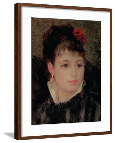 Woman with a Rose in Her Hair-Pierre-Auguste Renoir-Framed Art Print