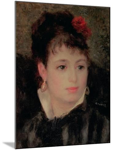 Woman with a Rose in Her Hair-Pierre-Auguste Renoir-Mounted Giclee Print
