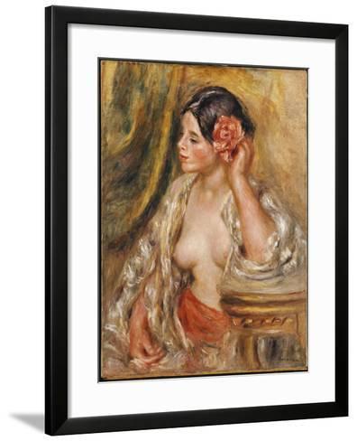 Gabrielle a Sa Coiffure, 1910-Pierre-Auguste Renoir-Framed Art Print