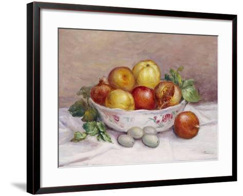 Still Life with a Pomegranate-Pierre-Auguste Renoir-Framed Art Print