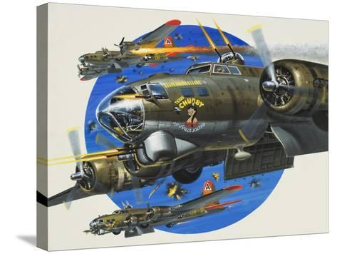 91st Usaaf Bombardment Group-Wilf Hardy-Stretched Canvas Print