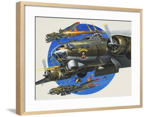 91st Usaaf Bombardment Group-Wilf Hardy-Framed Art Print