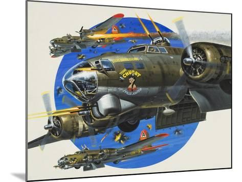 91st Usaaf Bombardment Group-Wilf Hardy-Mounted Giclee Print