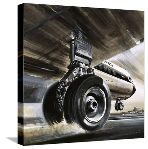 Aircraft Landing or Taking Off-Wilf Hardy-Stretched Canvas Print