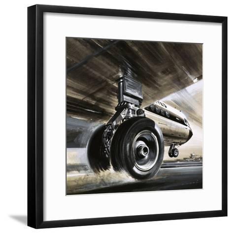 Aircraft Landing or Taking Off-Wilf Hardy-Framed Art Print
