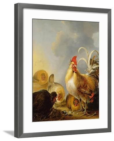 A Group of Farmyard Fowl, 1643-Gysbert Hondecoeter-Framed Art Print