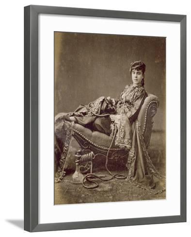 A Turkish Lady Seated, C.1880-Jean-Pascal Sebah-Framed Art Print