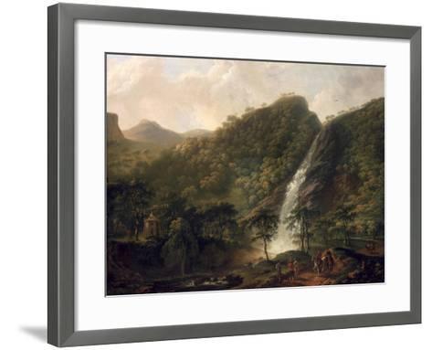 View of Powerscourt Waterfall-George Barret-Framed Art Print