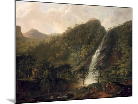 View of Powerscourt Waterfall-George Barret-Mounted Giclee Print