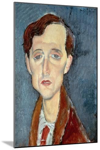 Portrait of Franz Hellens, 1919-Amedeo Modigliani-Mounted Giclee Print