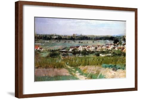 The Village of Maurecourt, 1873-Morisot-Framed Art Print