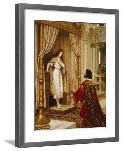 A King and a Beggar Maid, 1898-Edmund Blair Leighton-Framed Art Print