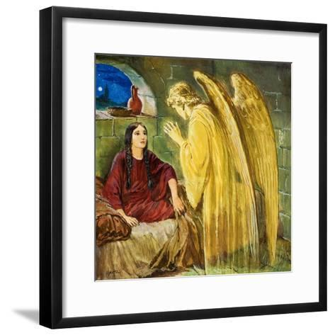 The Angel with Wonderful News-Clive Uptton-Framed Art Print