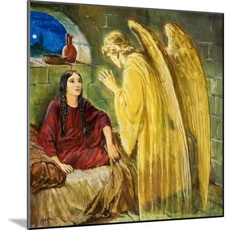 The Angel with Wonderful News-Clive Uptton-Mounted Giclee Print