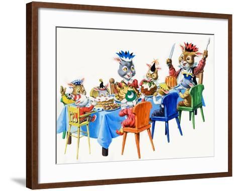 Brer Rabbit's Christmas Meal-Virginio Livraghi-Framed Art Print