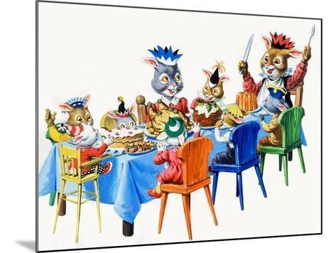 Brer Rabbit's Christmas Meal-Virginio Livraghi-Mounted Giclee Print