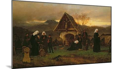 All Soul's Day in the Cemetery-Ludwig Friedrich Wilhelm Riefstahl-Mounted Giclee Print