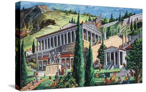 The Temple of Apollo at Delphi-Giovanni Ruggero-Stretched Canvas Print