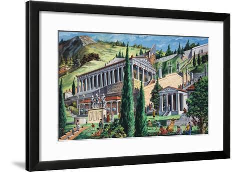 The Temple of Apollo at Delphi-Giovanni Ruggero-Framed Art Print