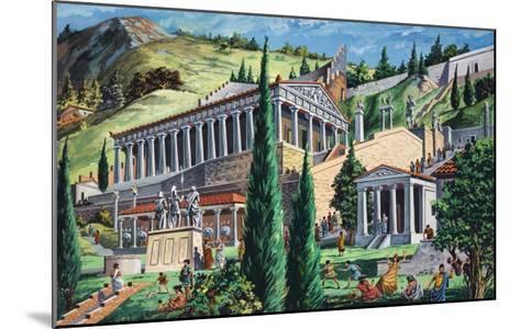 The Temple of Apollo at Delphi-Giovanni Ruggero-Mounted Giclee Print