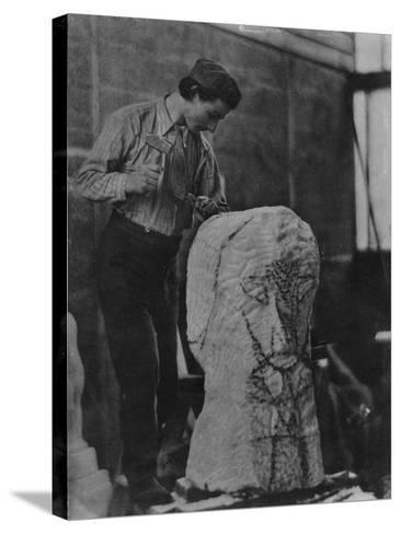 Henri Gaudier-Brzeska, C.1910-English Photographer-Stretched Canvas Print