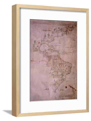 Map of the New World, C.1532--Framed Art Print