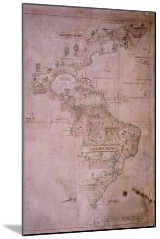 Map of the New World, C.1532--Mounted Giclee Print