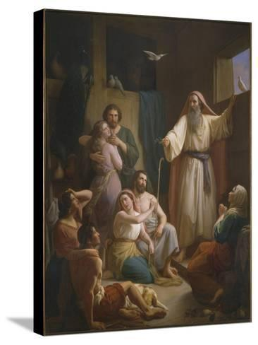 Interior of Noah's Ark, 1857-Joaquin oe Joaquim Ramirez-Stretched Canvas Print