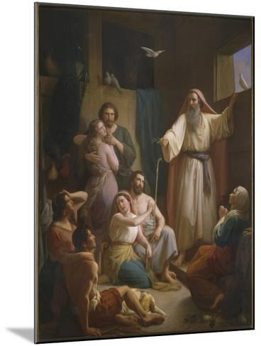 Interior of Noah's Ark, 1857-Joaquin oe Joaquim Ramirez-Mounted Giclee Print