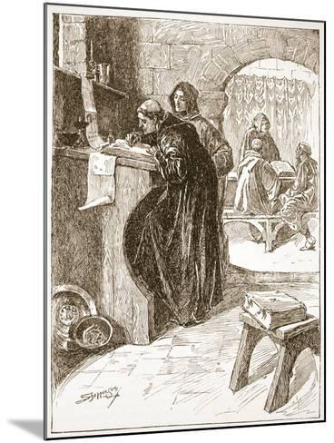 The Scriptorium of a Monastery-Claude Allinson Shepperson-Mounted Giclee Print